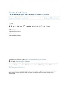 Soil and Water Conservation: An Overview