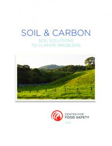 SOIL & CARBON SOIL SOLUTIONS TO CLIMATE PROBLEMS