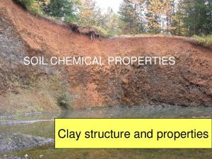 SOIL CHEMICAL PROPERTIES. Clay structure and properties