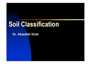 Soil Classification. Dr. Attaullah Shah
