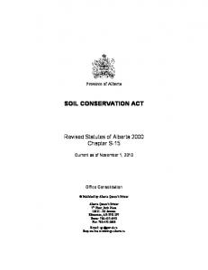 SOIL CONSERVATION ACT