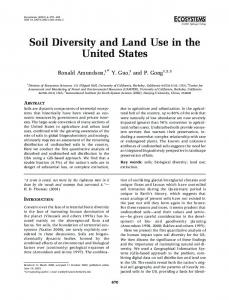 Soil Diversity and Land Use in the United States
