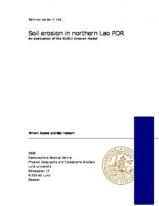 Soil erosion in northern Lao PDR