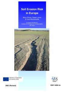 Soil Erosion Risk in Europe