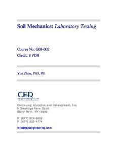 Soil Mechanics: Laboratory Testing