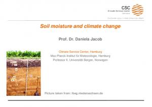 Soil moisture and climate change