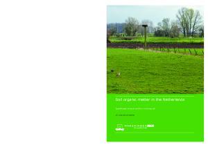 Soil organic matter in the Netherlands