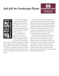 Soil ph for Landscape Plants