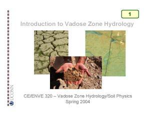 Soil Physics Spring 2004