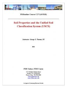 Soil Properties and the Unified Soil Classification System (USCS)