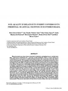 Soil Quality in Relation to Forest Conversion to