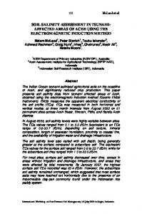 SOIL SALINITY ASSESSMENT IN TSUNAMI- AFFECTED AREAS OF ACEH USING THE ELECTROMAGNETIC INDUCTION METHOD