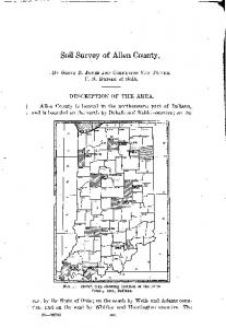 Soil Survey of Allen County
