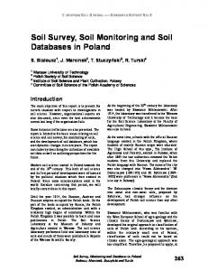 Soil Survey, Soil Monitoring and Soil Databases in Poland