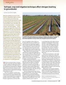 Soil type, crop and irrigation technique affect nitrogen leaching to groundwater