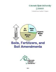 Soils, Fertilizers, and Soil Amendments