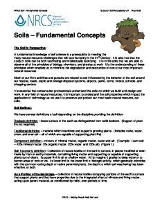 Soils Fundamental Concepts