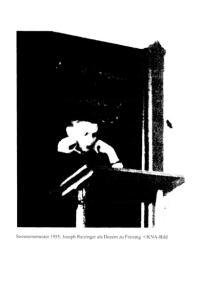 Soinmersemester 1955: Joseph Ratzinger als Dozent zu Freising KNA-Bild