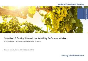 Solactive US Quality Dividend Low Volatility Performance-Index