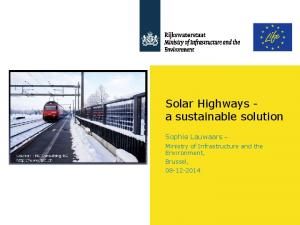 Solar Highways - a sustainable solution