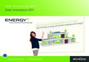 Solar Innovationen 2011 Solar Innovations 2011