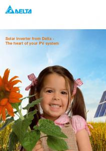 Solar Inverter from Delta - The heart of your PV system