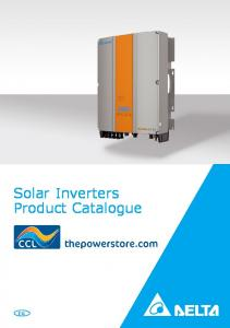 Solar Inverters Product Catalogue