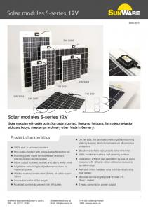 Solar modules S-series 12V
