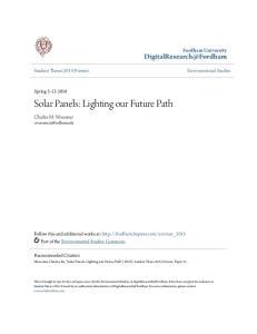 Solar Panels: Lighting our Future Path