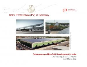 Solar Photovoltaic (PV) in Germany