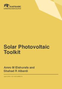 Solar Photovoltaic Toolkit
