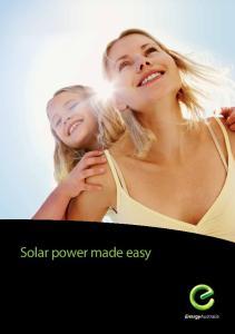 Solar power made easy
