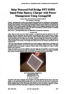 Solar Powered Full Bridge FET SMPS based Pulse Battery Charger with Power Management Using Atmega328