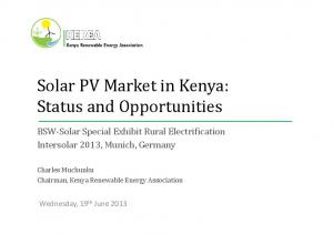 Solar PV Market in Kenya: Status and Opportunities