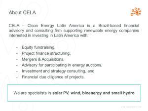 solar PV, wind, bioenergy and small hydro