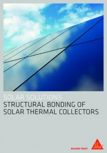 Solar Solutions structural bonding of Solar Thermal Collectors