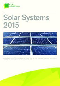 Solar Systems SOLAR MODULES SOLAR-FABRIK SOLARWORLD LG HYUNDAI BENQ NSP REC YINGLI SOLAR TRINA SOLAR SOLAR FRONTIER