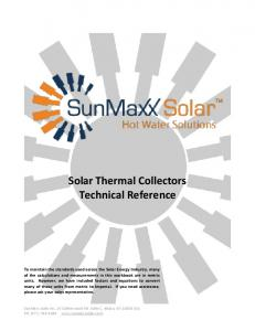 Solar Thermal Collectors Technical Reference