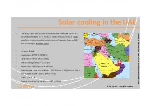 Solarcoolingin the UAE