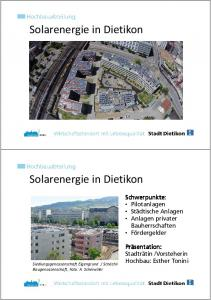 Solarenergie in Dietikon
