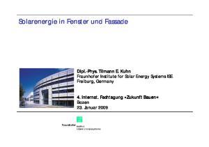 Solarenergie in Fenster und Fassade