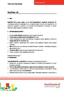 SolarFlex LM. Technical Data Sheet. 1. Opis