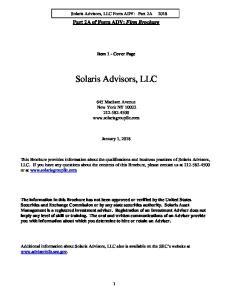 Solaris Advisors, LLC