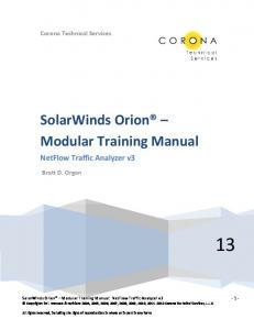 SolarWinds Orion Modular Training Manual
