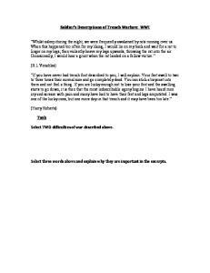 Soldier s Descriptions of Trench Warfare: WWI