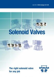 Solenoid Valves. Series. The right solenoid valve for any job. 22, 134a, 401A, 402A, 404A, 407C, 502, 507 Types B6 and E6