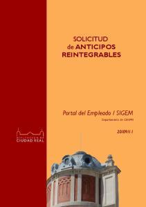 SOLICITUD de ANTICIPOS REINTEGRABLES