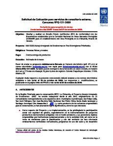 Solicitud de Cotización para servicios de consultoría externa. Concurso: RFQ