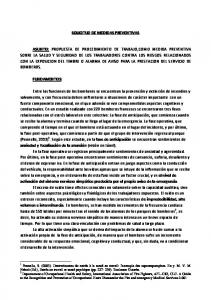 SOLICITUD DE MEDIDAS PREVENTIVAS