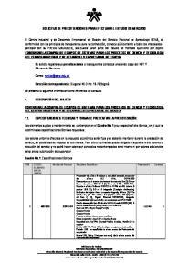 SOLICITUD DE PRECOTIZACIONES PARA EFECTUAR EL ESTUDIO DE MERCADO